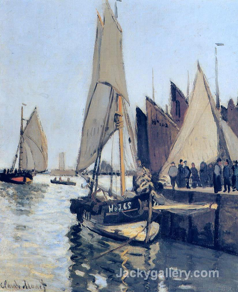 Sailing Boats at Honfleur by Claude Monet paintings reproduction