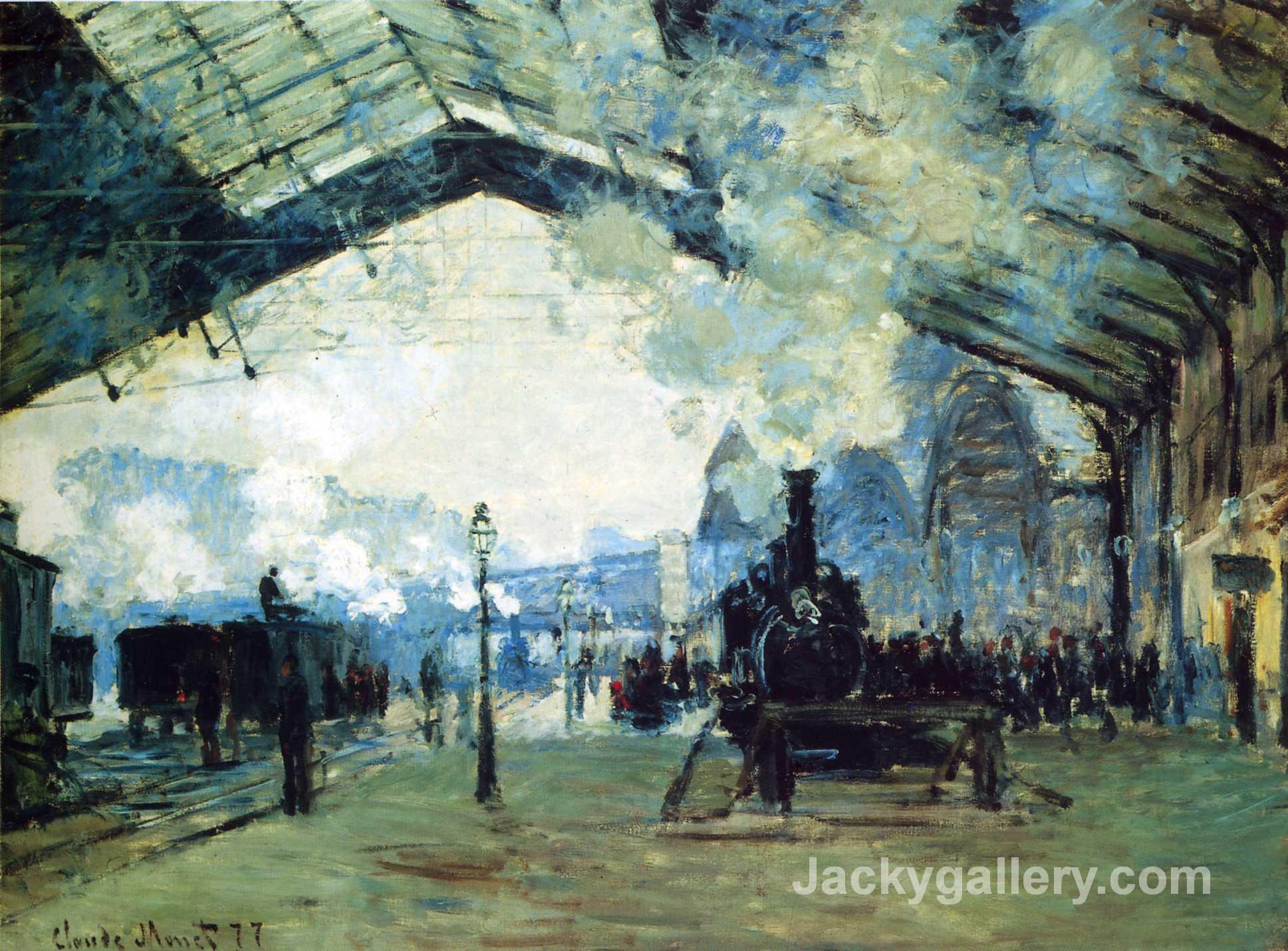 Saint-Lazare Gare, Normandy Train by Claude Monet paintings reproduction