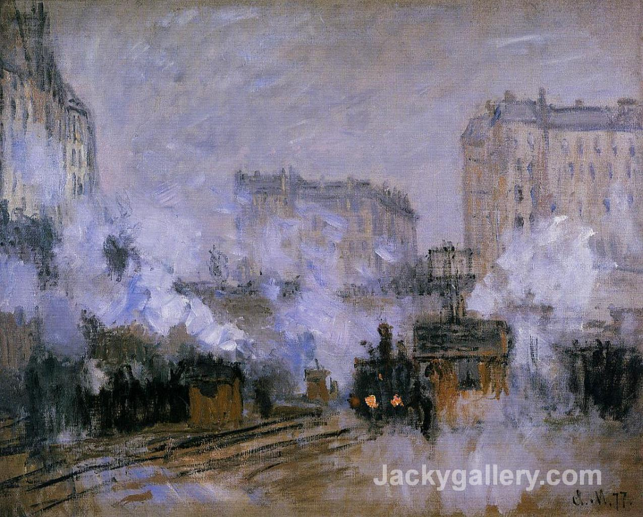 Saint-Lazare Station, Arrival of a Train by Claude Monet paintings reproduction