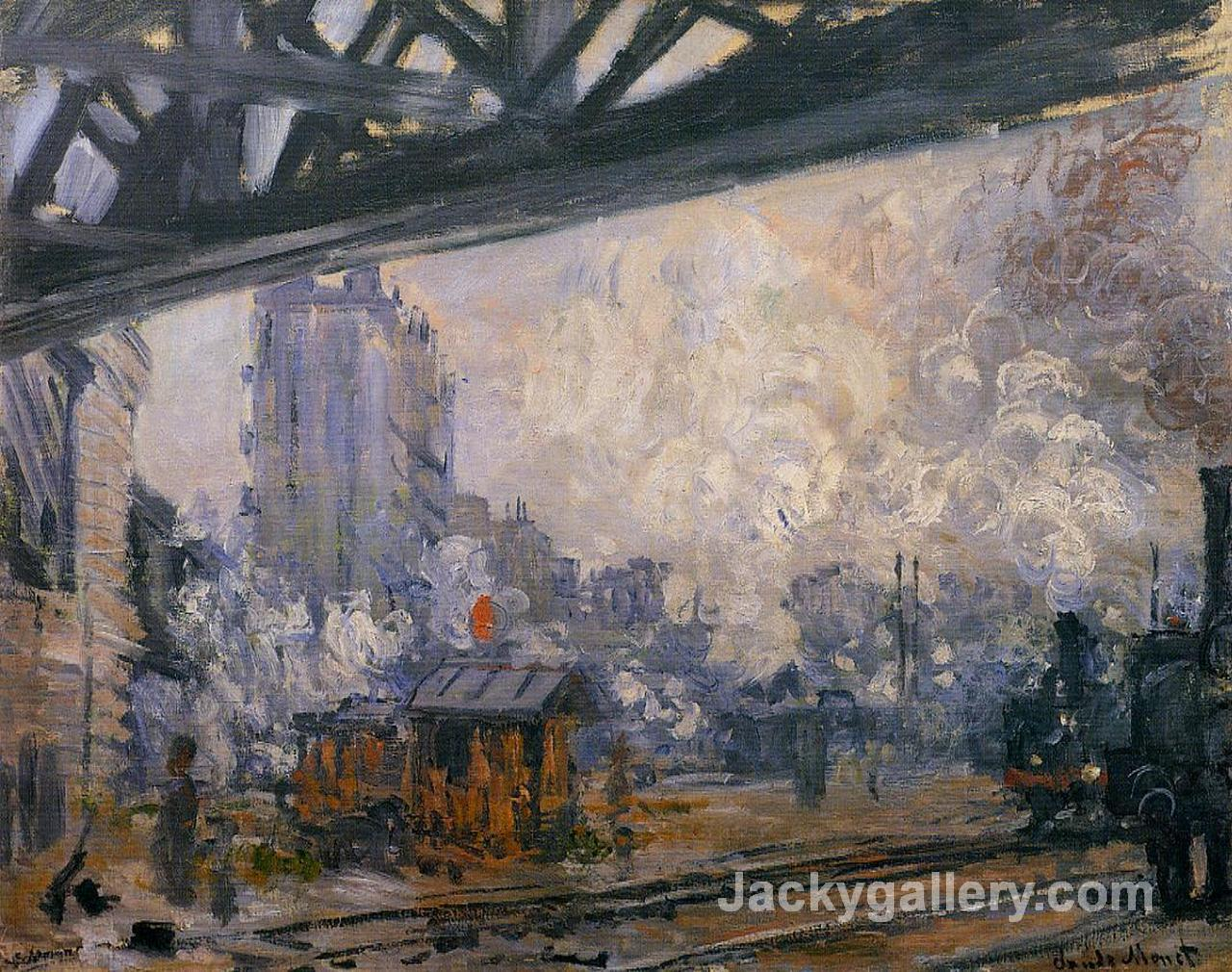 Saint-Lazare Station, Exterior View by Claude Monet paintings reproduction