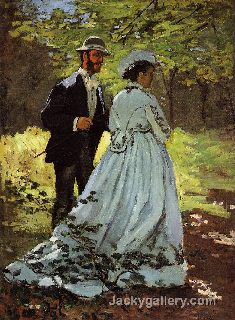 Study for Luncheon on the Grass by Claude Monet paintings reproduction
