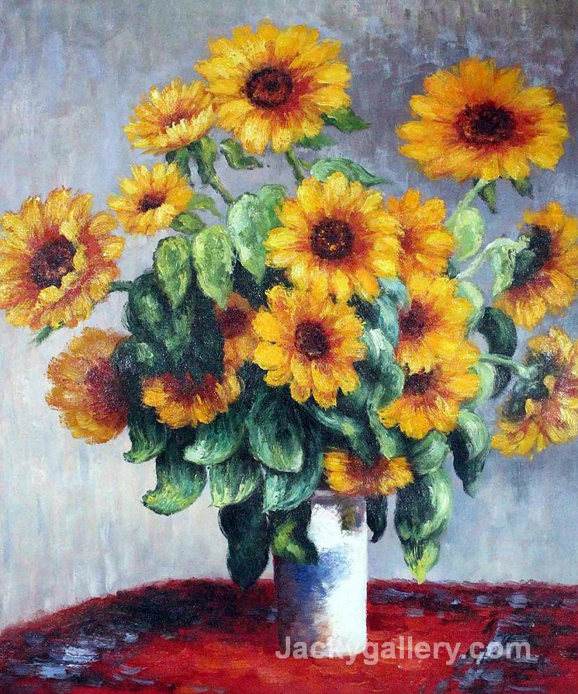 Sunflowers by Claude Monet paintings reproduction