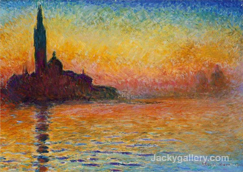 Sunset in Venice, by Claude Monet paintings reproduction