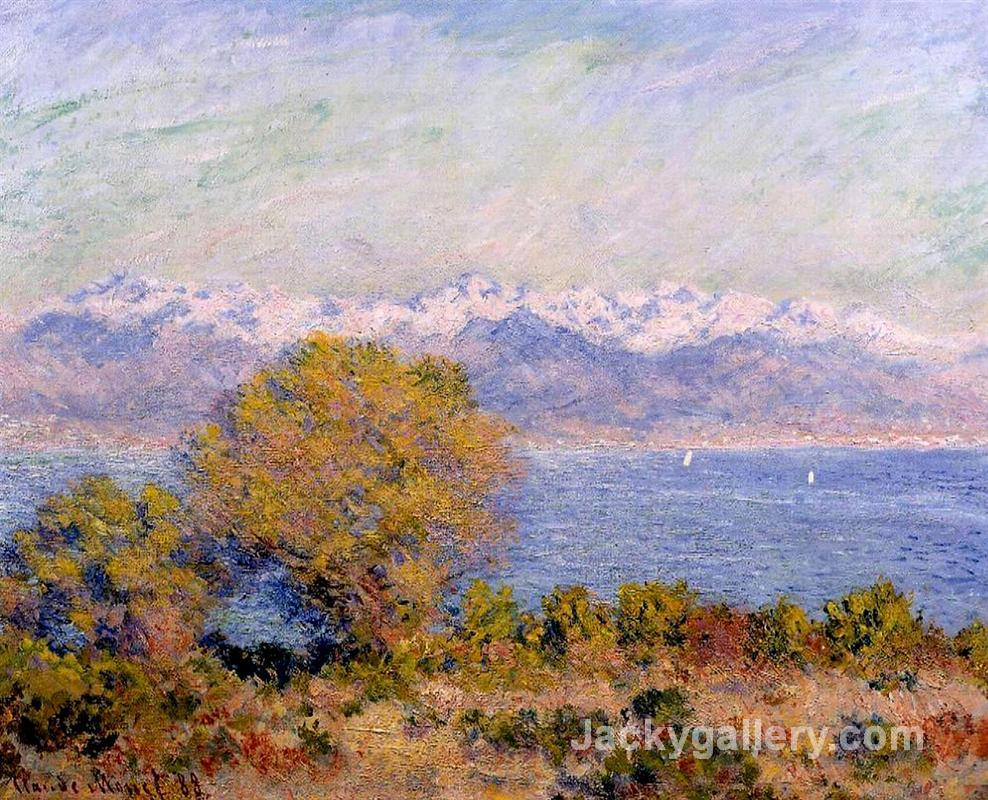 The Alps Seen from Cap d Antibes by Claude Monet paintings reproduction