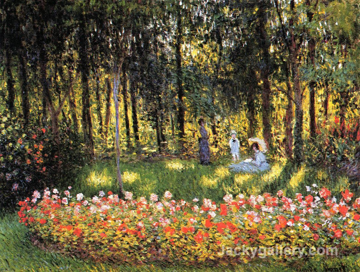 The Artists Family in the Garden by Claude Monet paintings reproduction