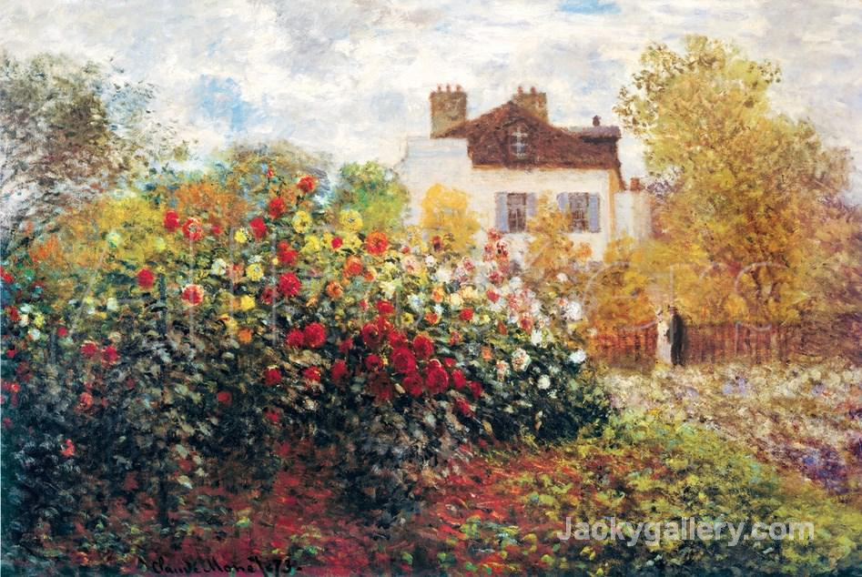 The Artists Garden by Claude Monet paintings reproduction