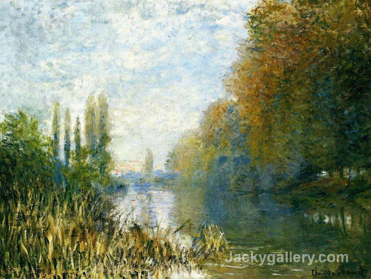 The Banks of The Seine in Autumn by Claude Monet paintings reproduction