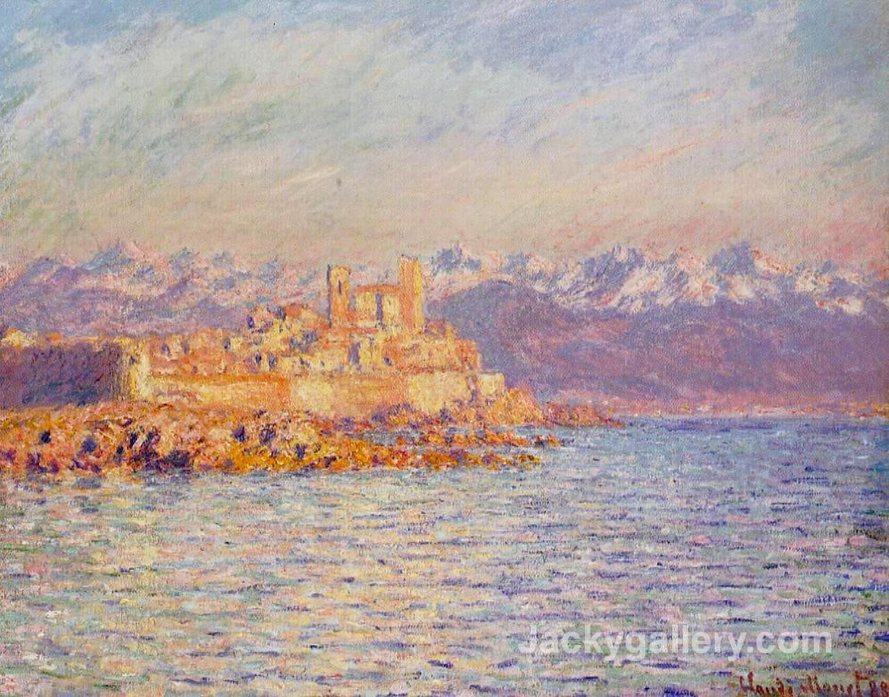 The Bay of Antibes by Claude Monet paintings reproduction