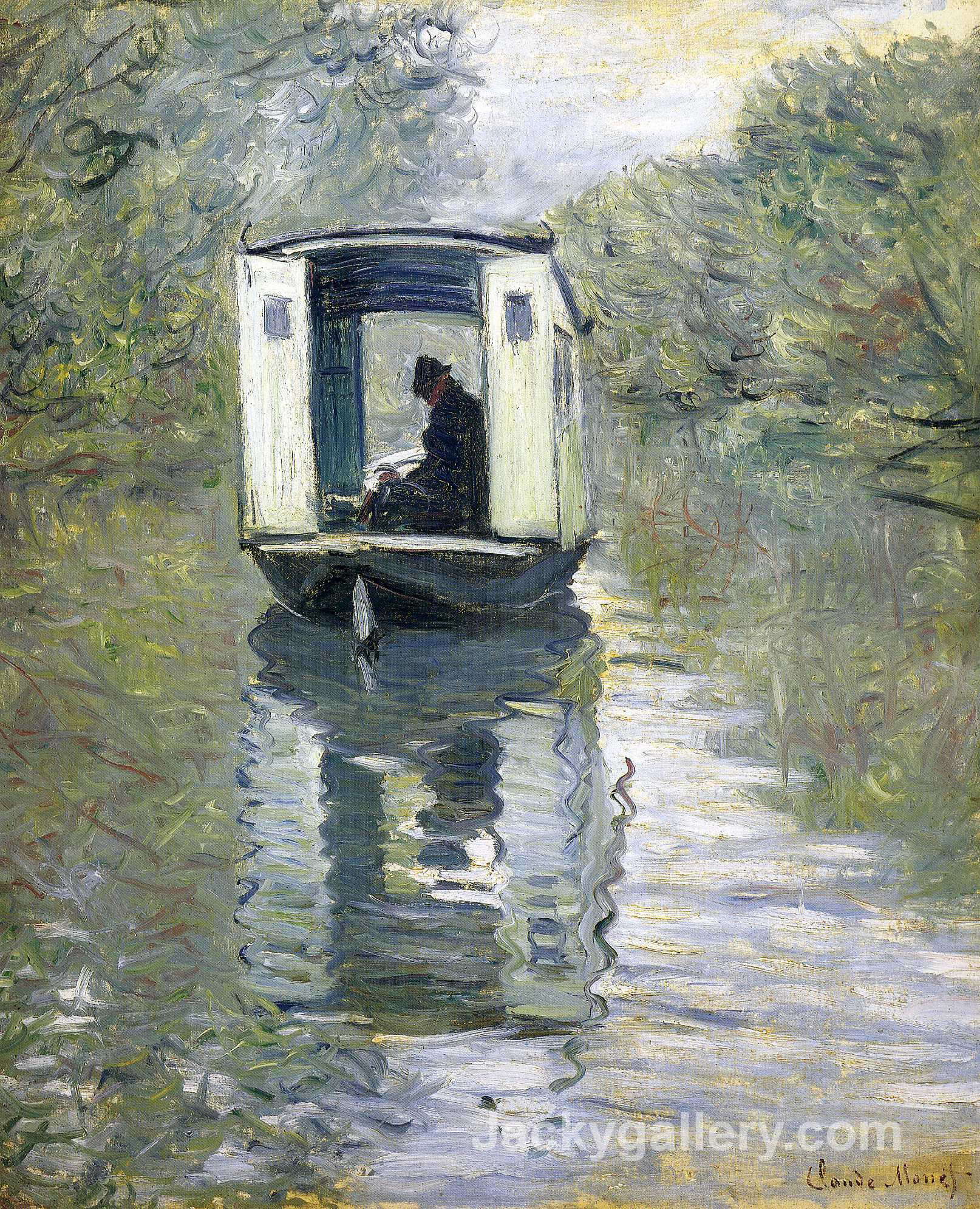 The Boat Studio by Claude Monet paintings reproduction