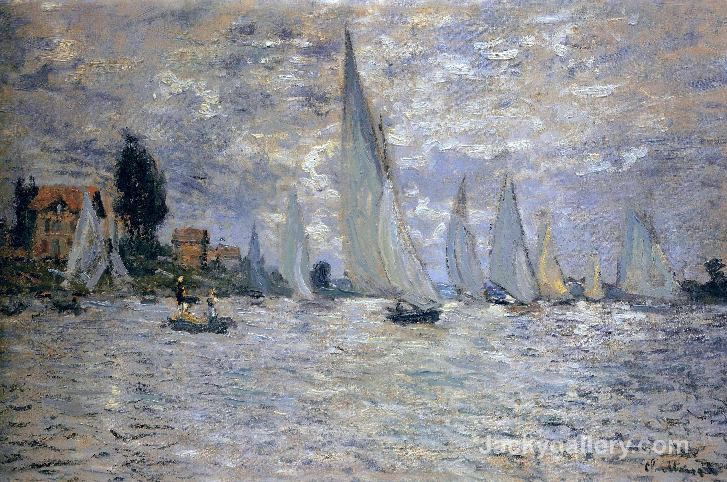 The Boats Regatta at Argenteuil by Claude Monet paintings reproduction