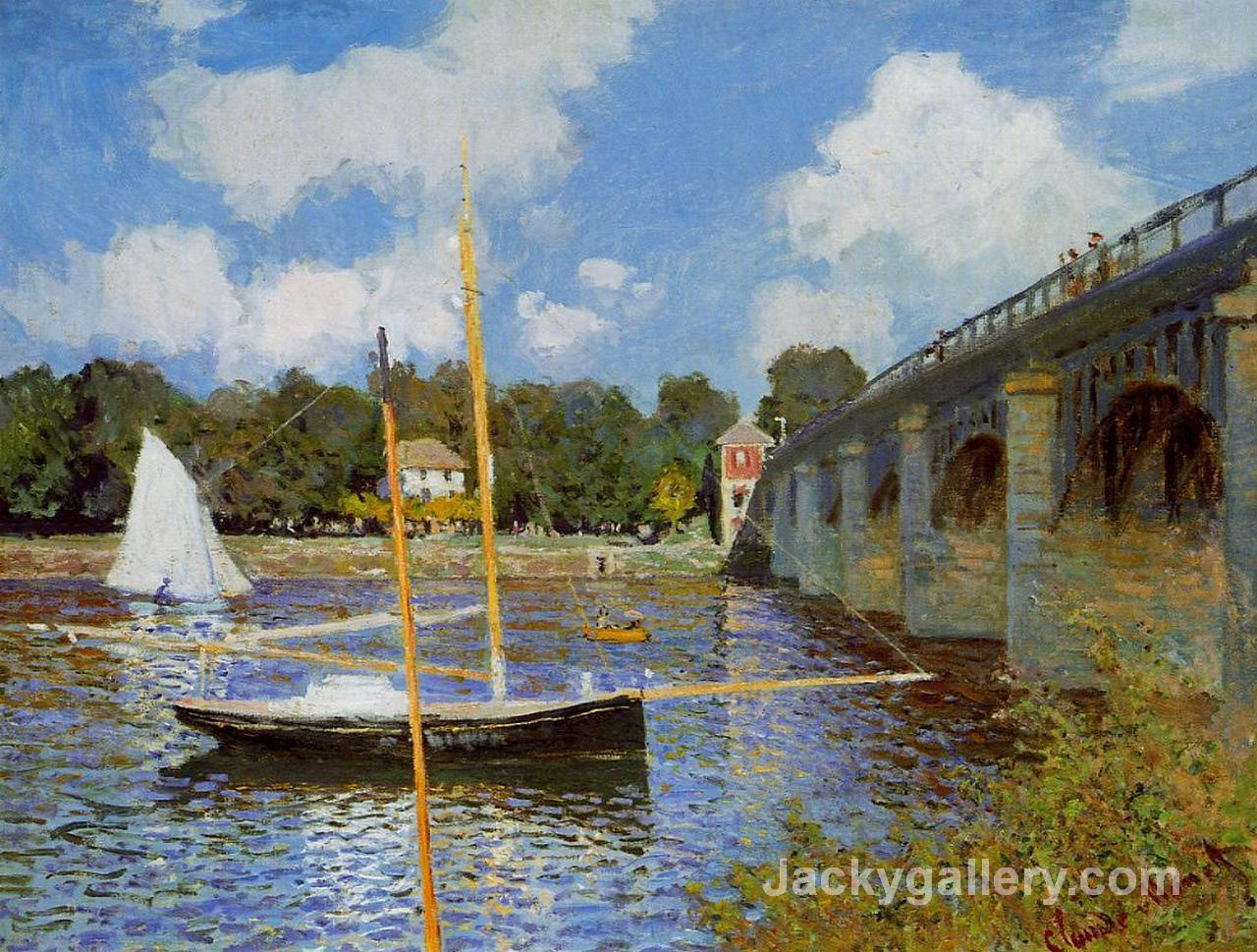 The Bridge at Argenteuil by Claude Monet paintings reproduction