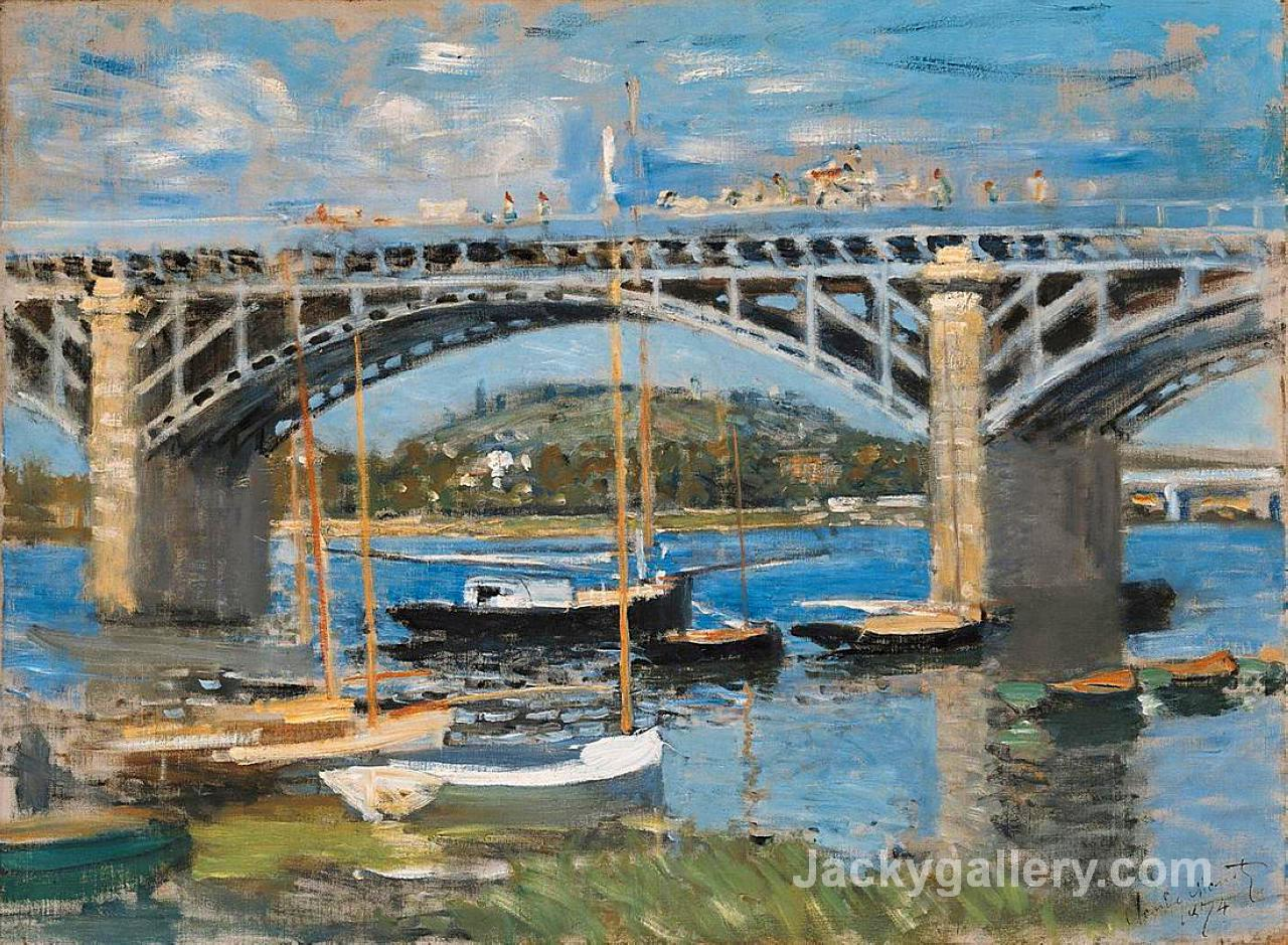 The Bridge over the Seine by Claude Monet paintings reproduction