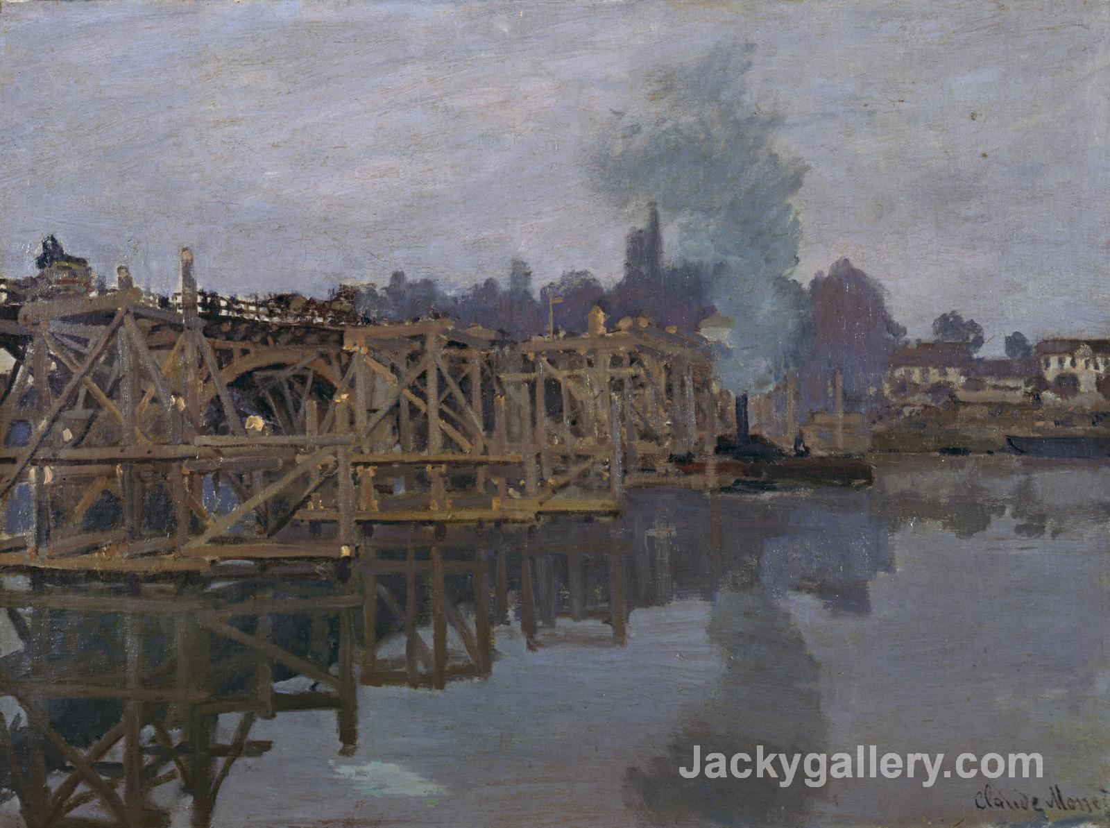 The Bridge under Repair by Claude Monet paintings reproduction