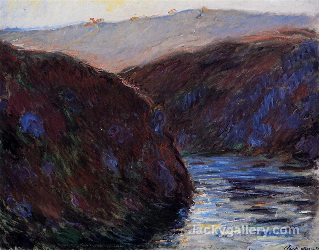 The Creuse Valley, Evening Effect by Claude Monet paintings reproduction