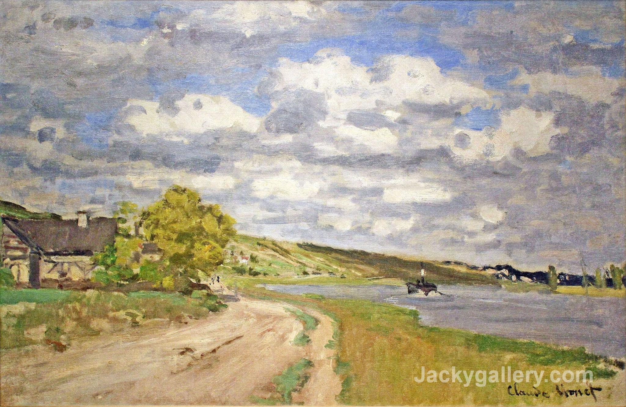 The Estuary of the Siene by Claude Monet paintings reproduction