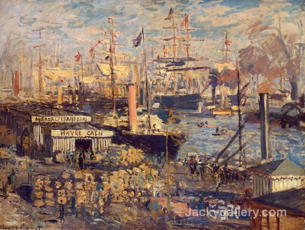The Grand Dock at Le Havre by Claude Monet paintings reproduction