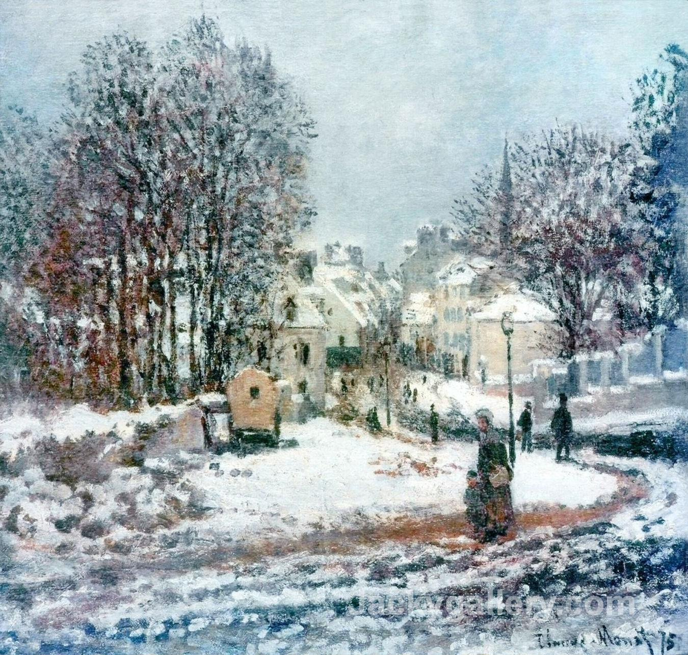 The Grand Street Entering to Argenteuil, Winter by Claude Monet paintings reproduction