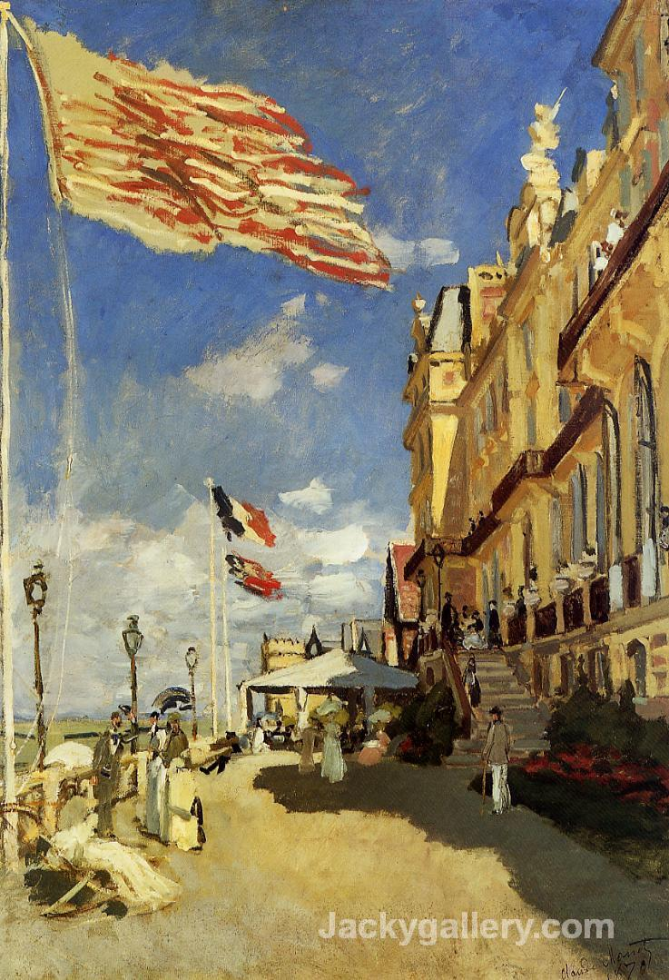 The Hotel des Roches Noires at Trouville by Claude Monet paintings reproduction