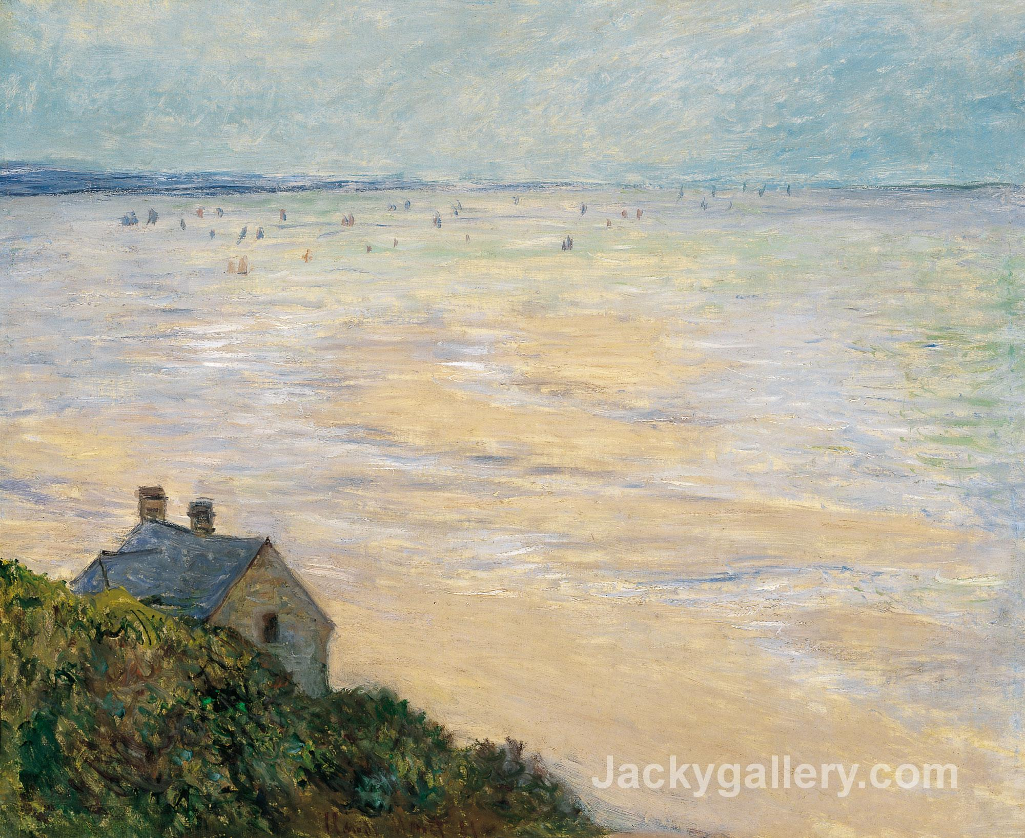 The Hut at Trouville, Low Tide by Claude Monet paintings reproduction