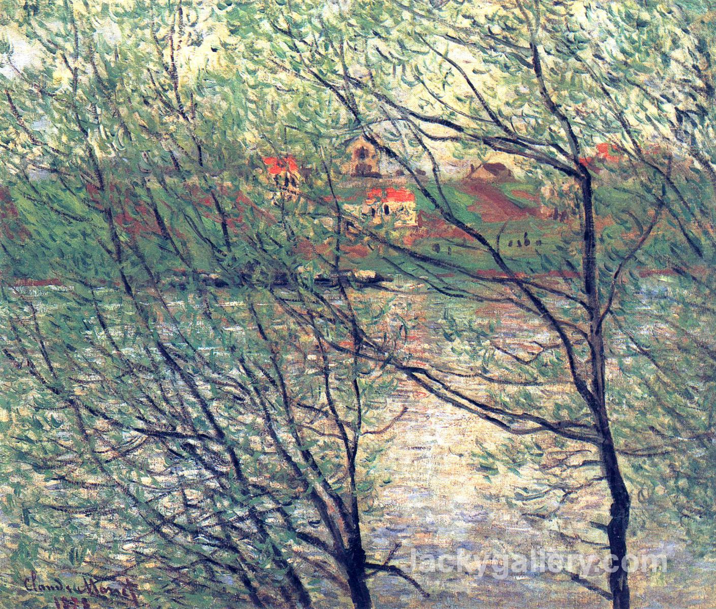 The Isle Grande-Jatte by Claude Monet paintings reproduction