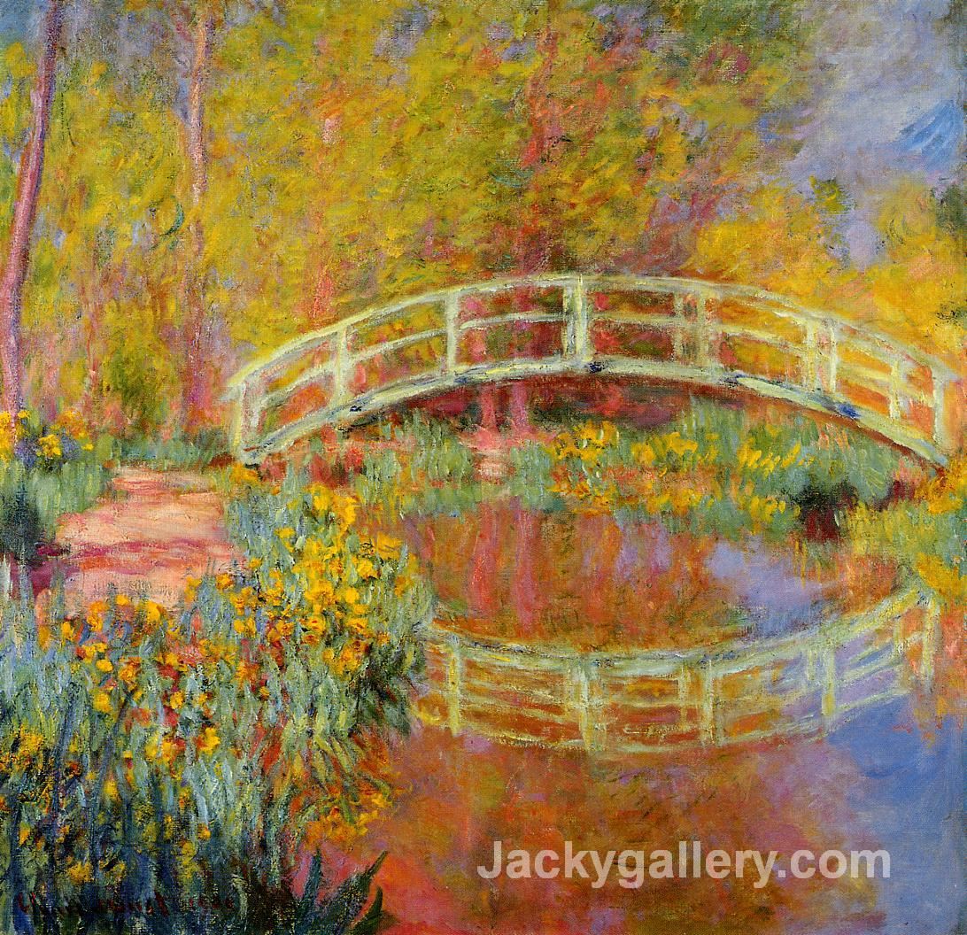 The Japanese Bridge (The Bridge in Monets Garden) by Claude Monet paintings reproduction