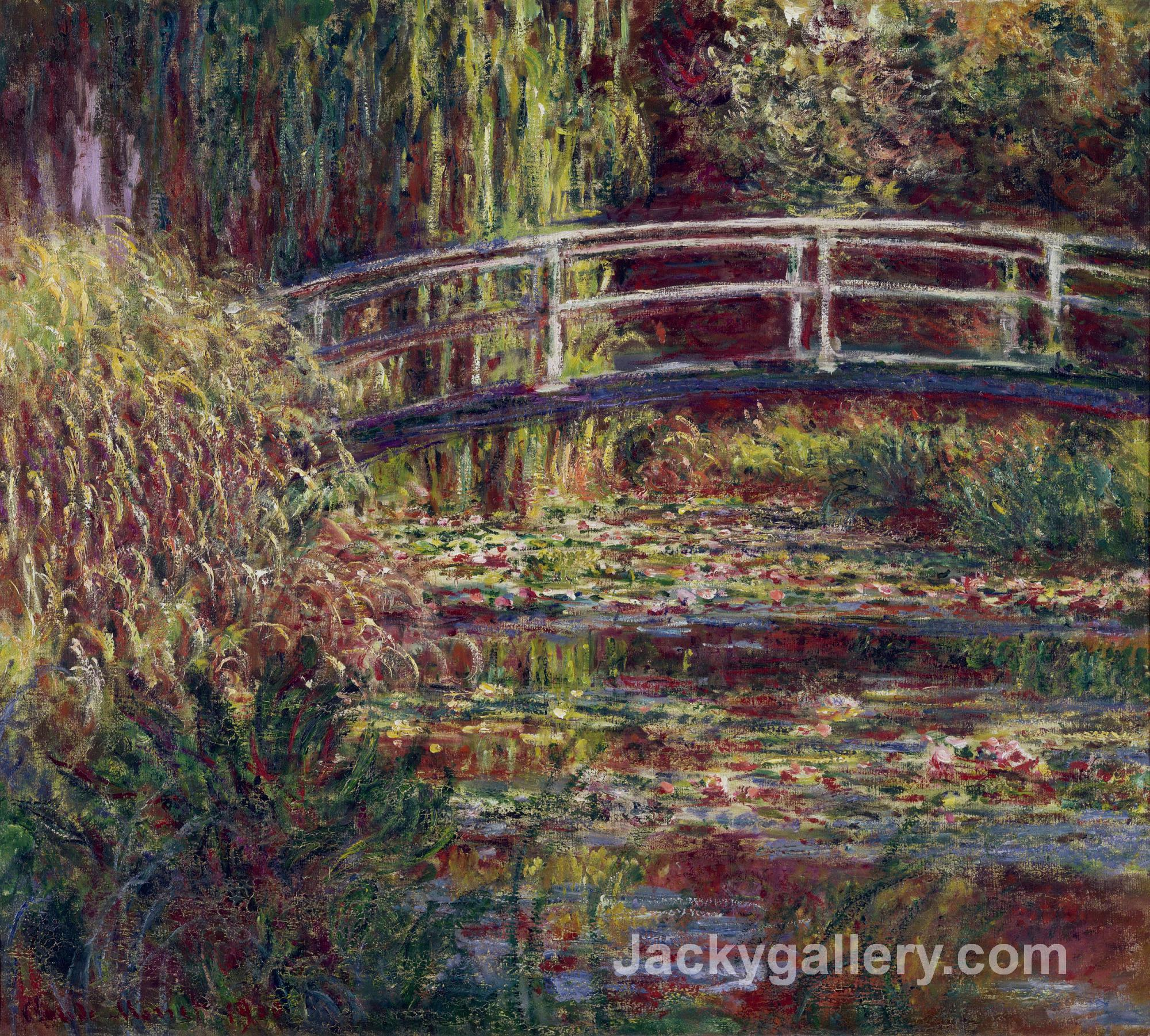 The Japanese Bridge (The Water-Lily Pond, Symphony in Rose) by Claude Monet paintings reproduction