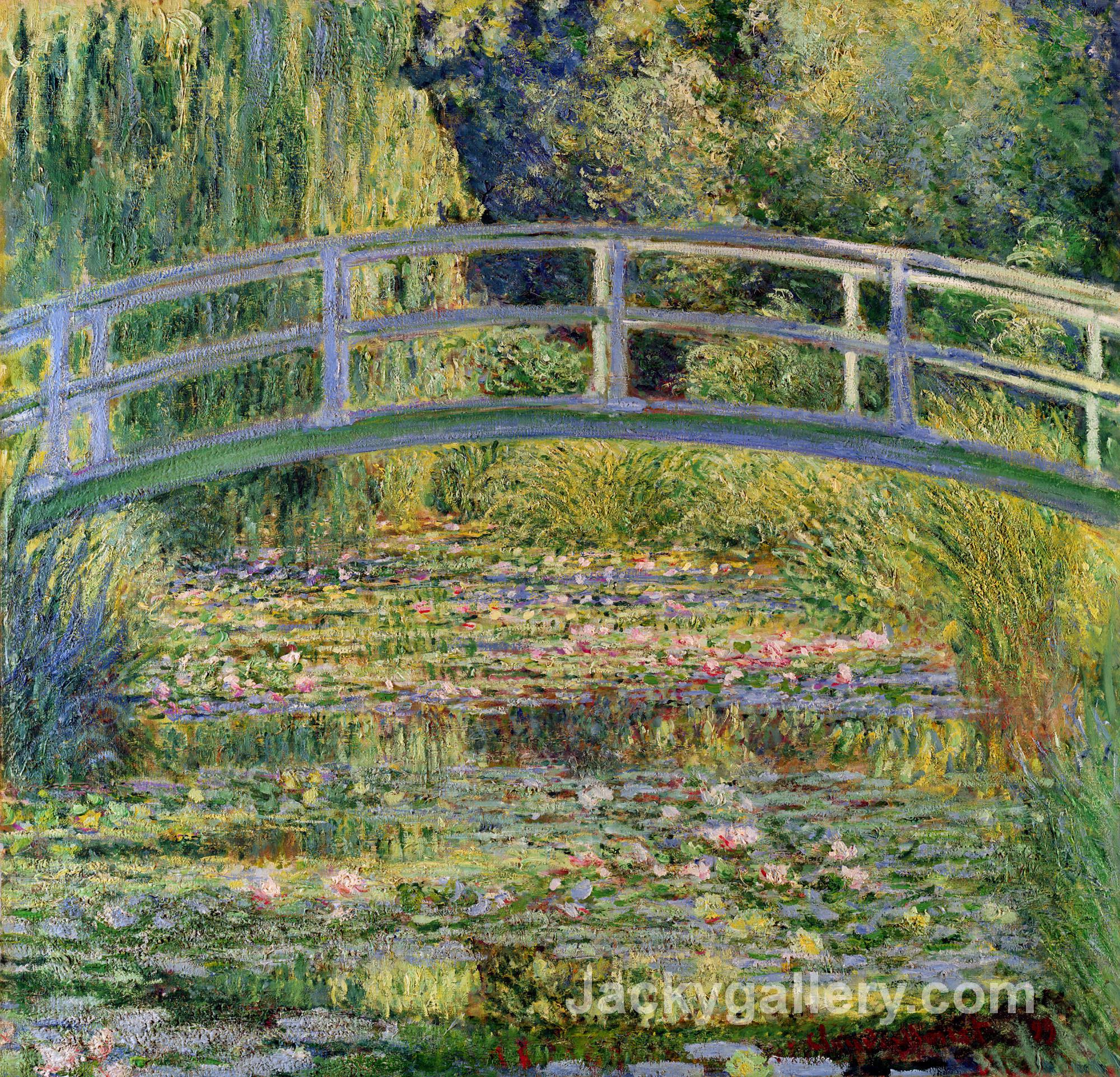 The Japanese Bridge (The Water-Lily Pond) by Claude Monet paintings reproduction