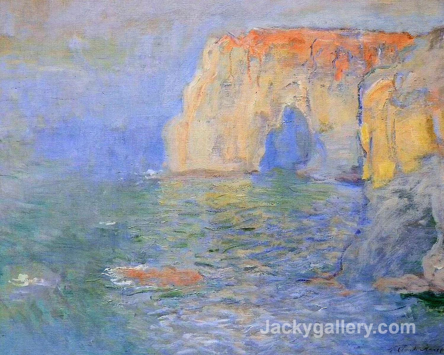 The Manneport, Reflections of Water by Claude Monet paintings reproduction