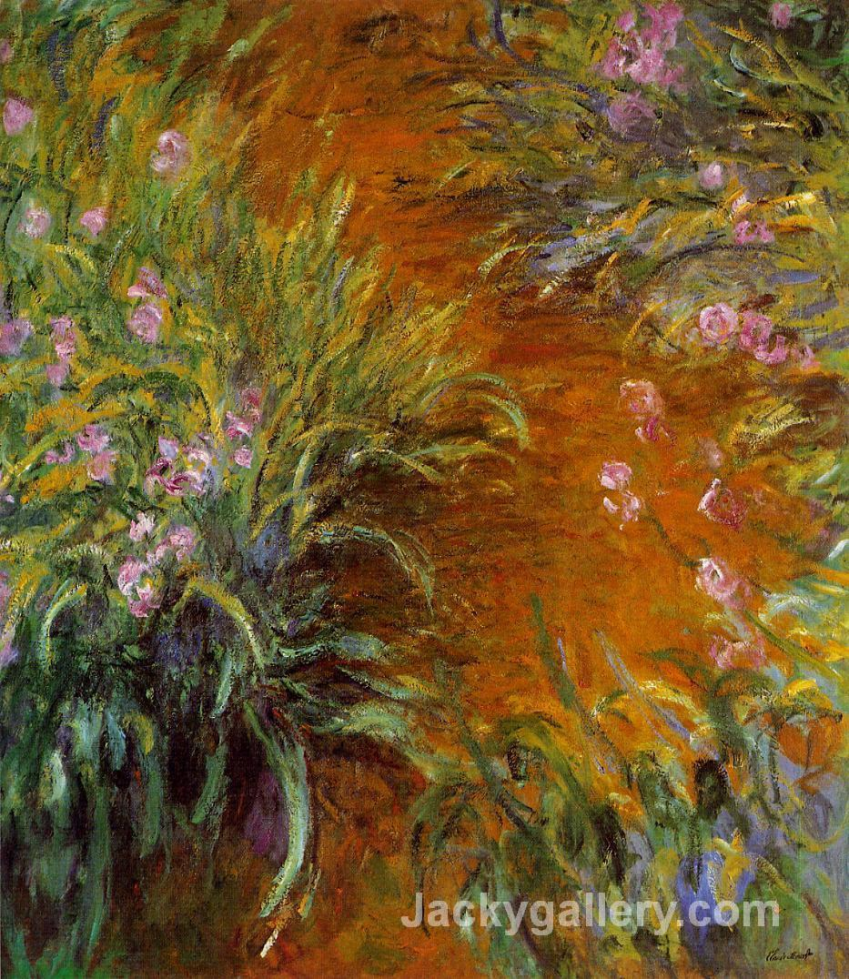The Path through the Irises by Claude Monet paintings reproduction