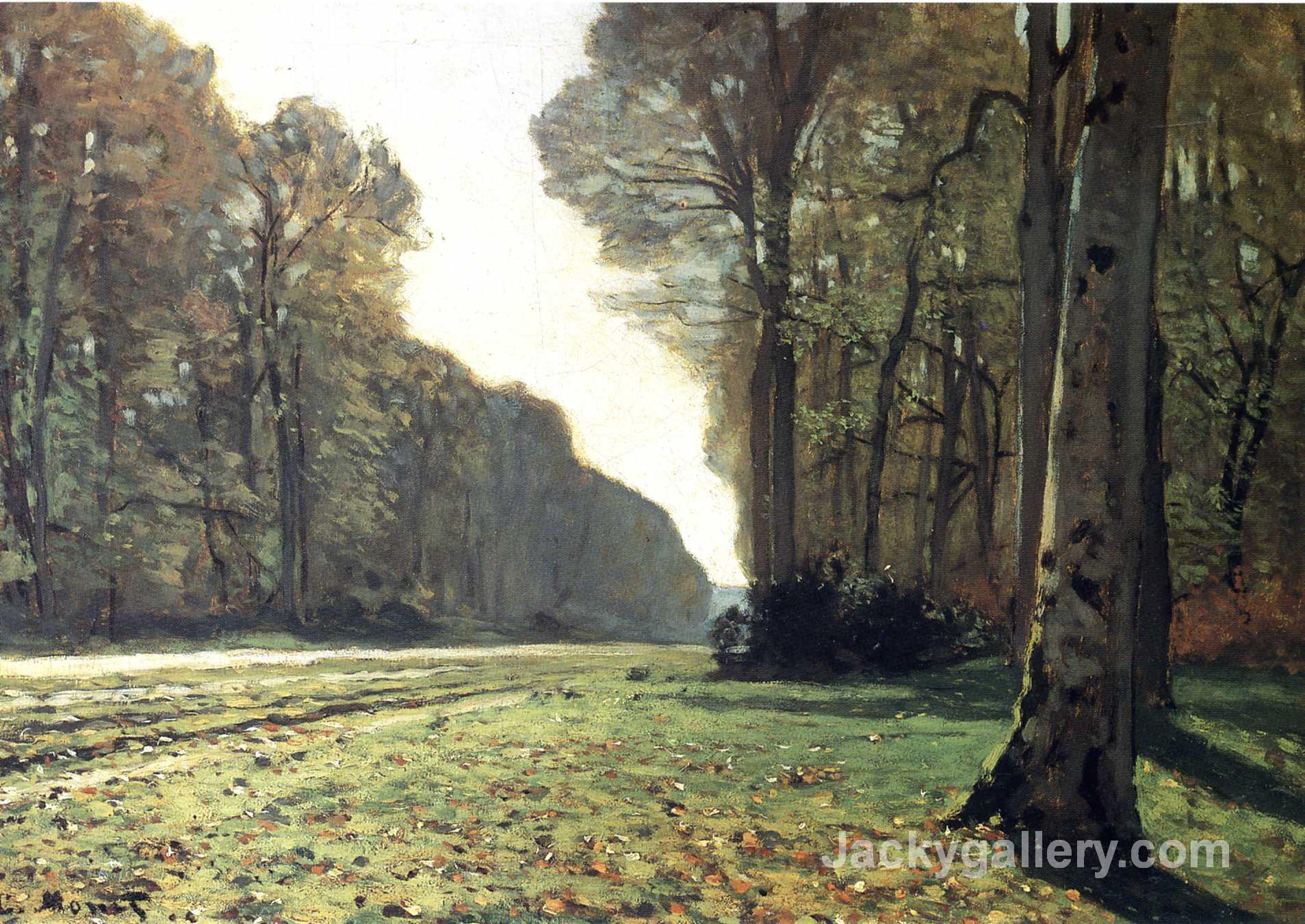 The Pave de Chailly in the Forest by Claude Monet paintings reproduction