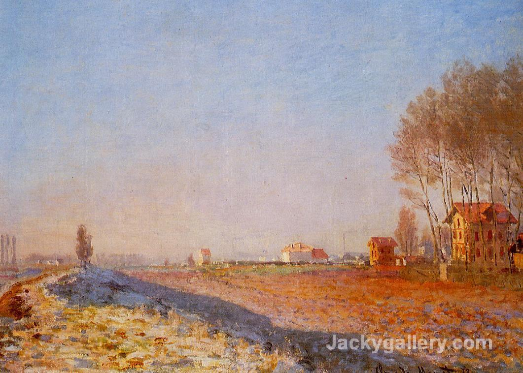 The Plain of Colombes, White Frost by Claude Monet paintings reproduction