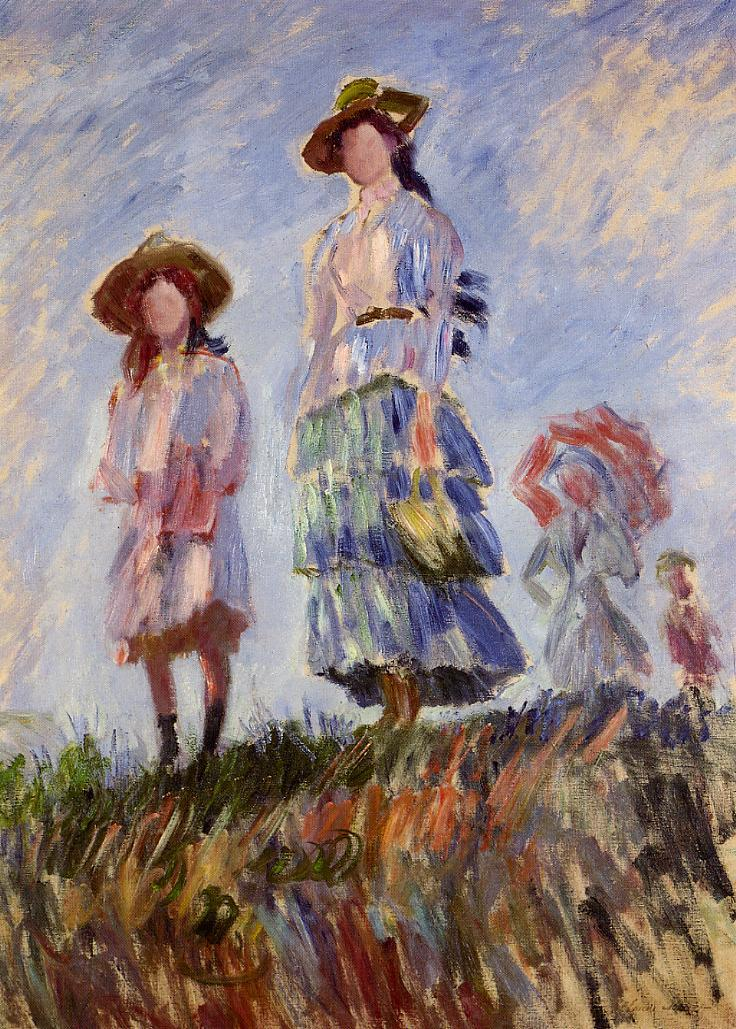 The Promenade (study) by Claude Monet paintings reproduction