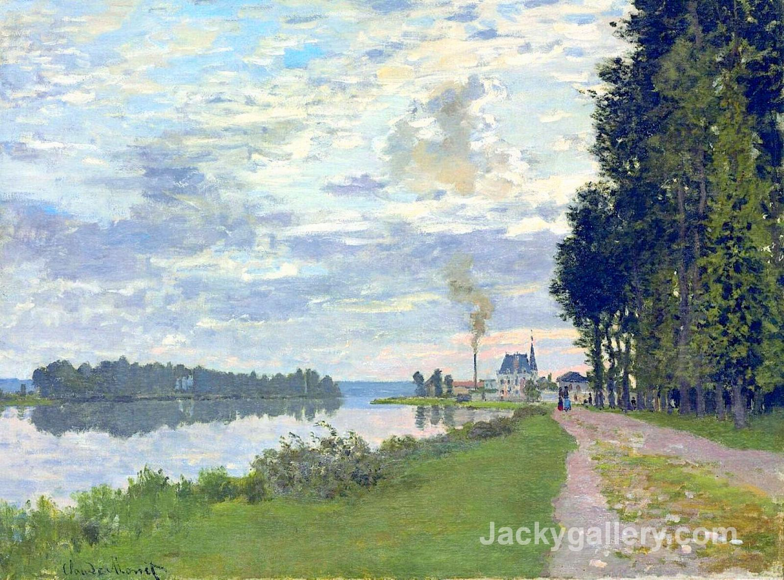 The Promenade at Argenteuil II by Claude Monet paintings reproduction