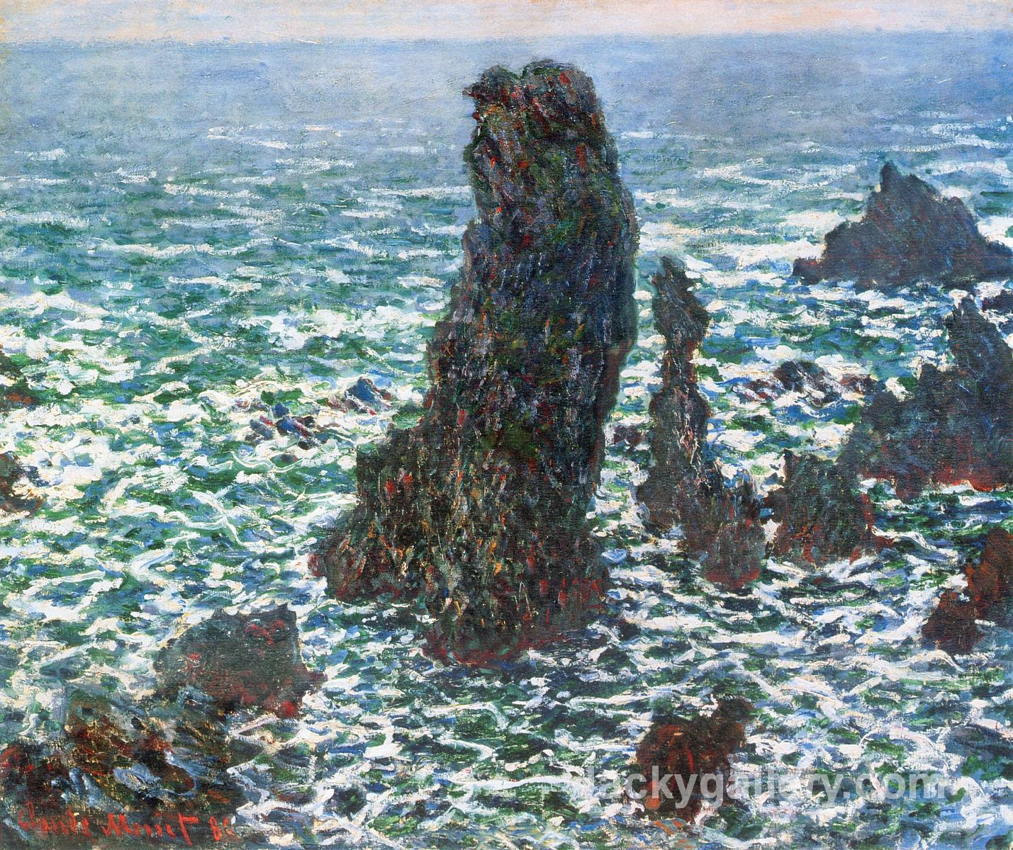 The Pyramids of Port Coton, Belle-Ile-en-Mer by Claude Monet paintings reproduction