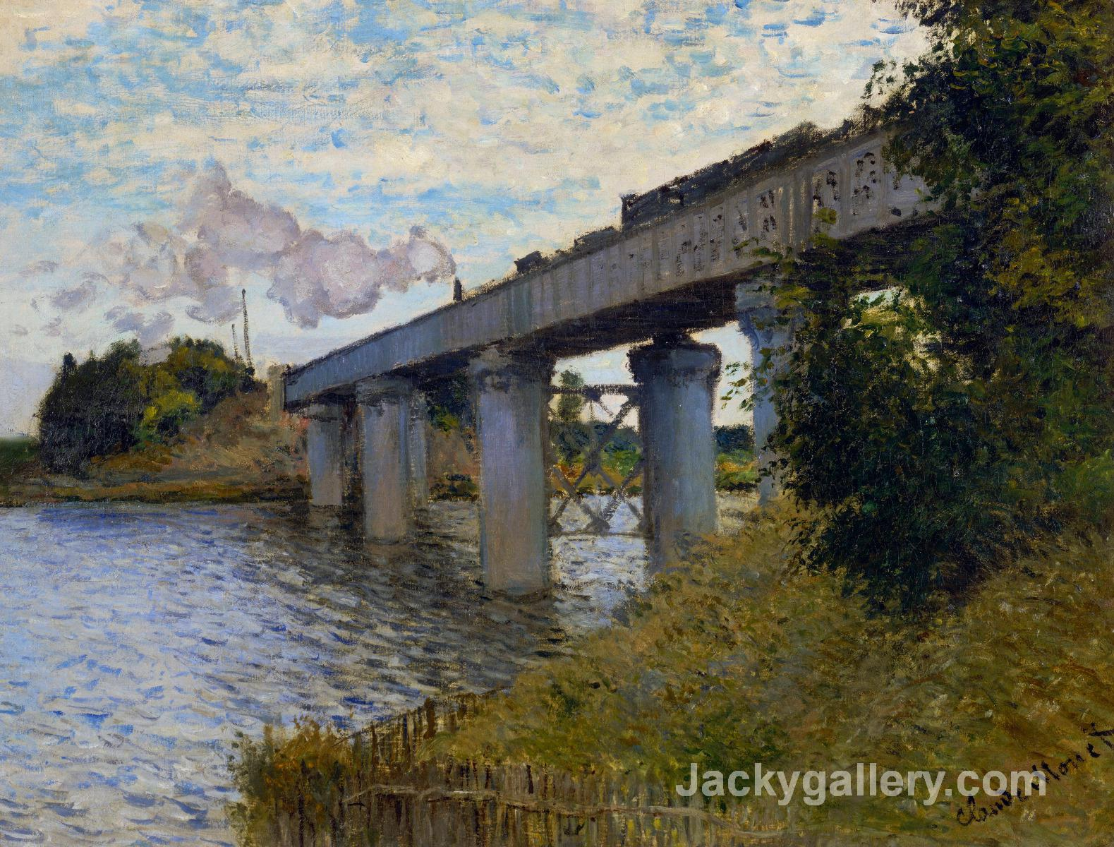 The Railway Bridge at Argenteuil by Claude Monet paintings reproduction