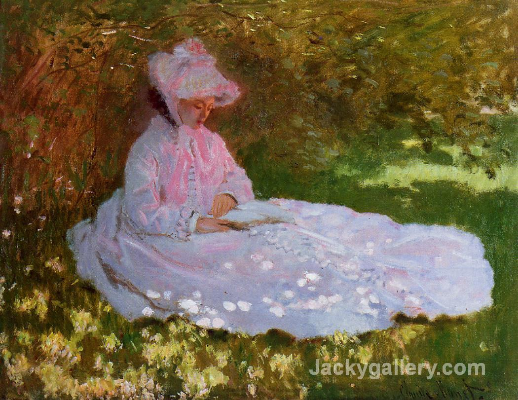 The Reader by Claude Monet paintings reproduction
