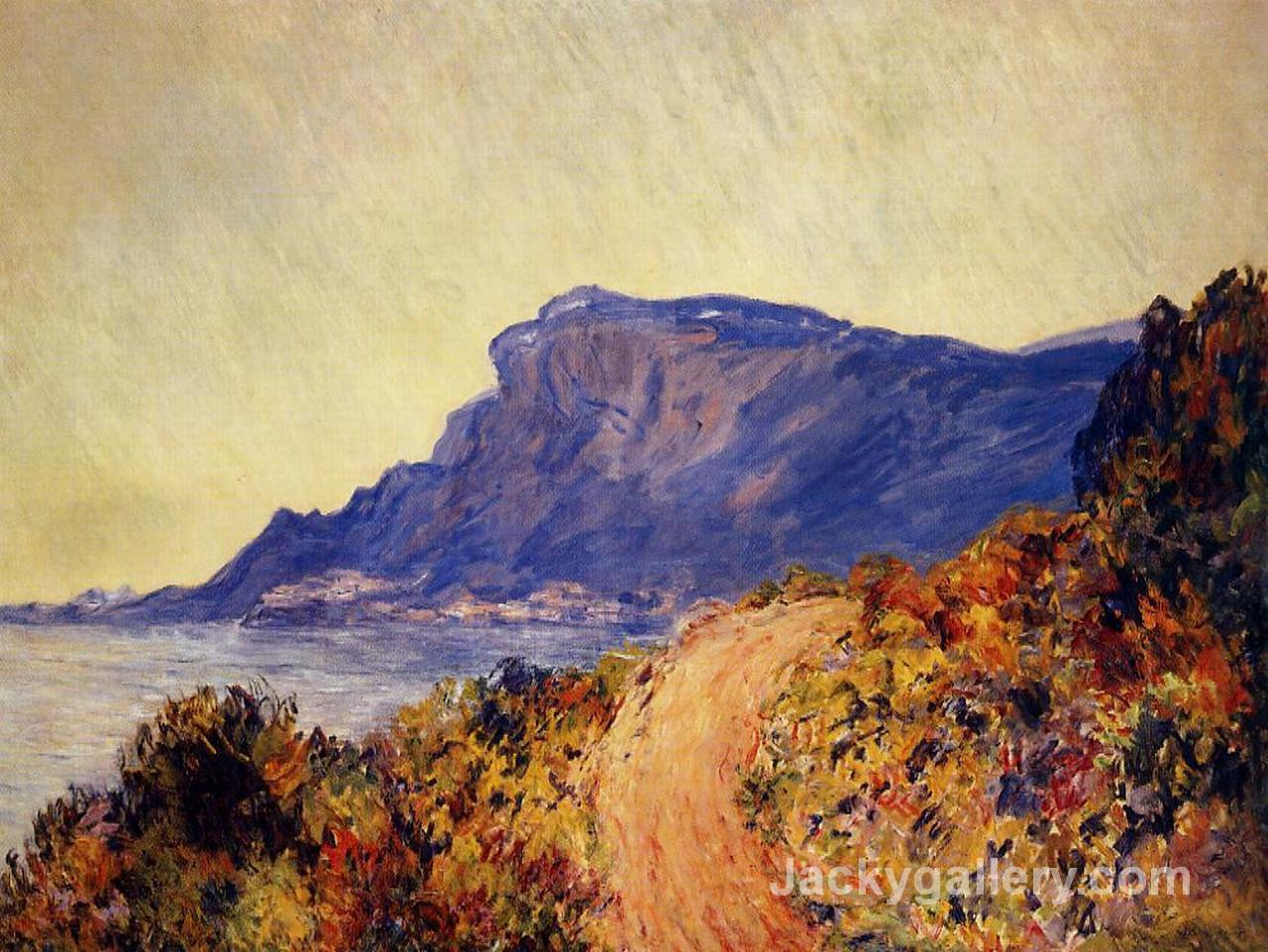 The Red Road at Cap Martin, near Menton by Claude Monet paintings reproduction