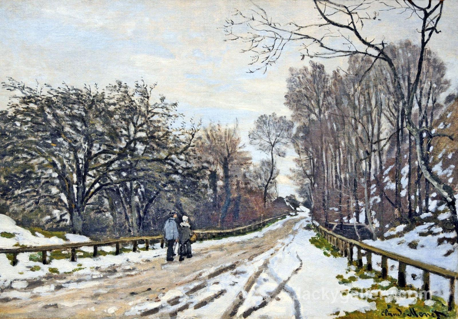 The Road to the Farm of Saint-Simeon by Claude Monet paintings reproduction