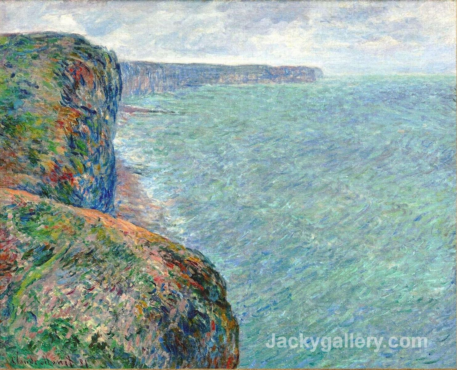 The Sea Seen from the Cliffs of Fecamp by Claude Monet paintings reproduction