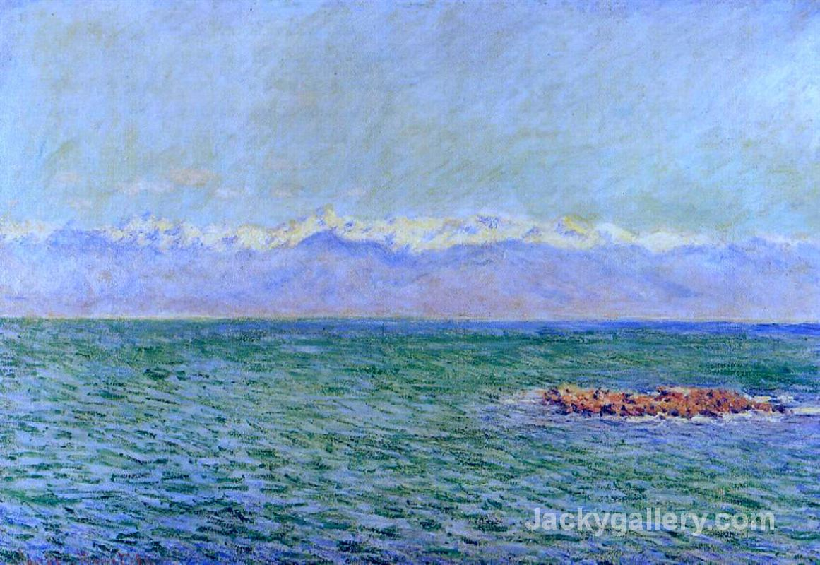 The Sea and the Alps by Claude Monet paintings reproduction