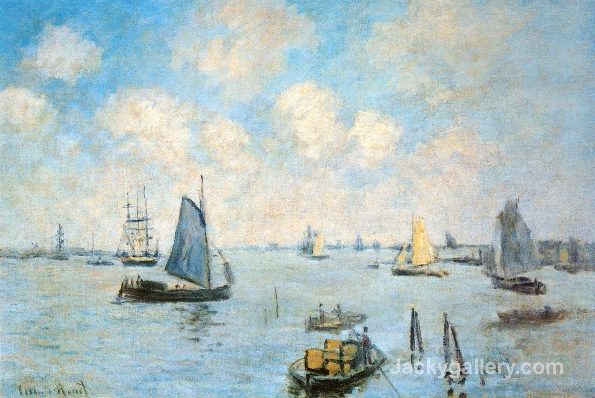 The Sea at Amsterdam by Claude Monet paintings reproduction