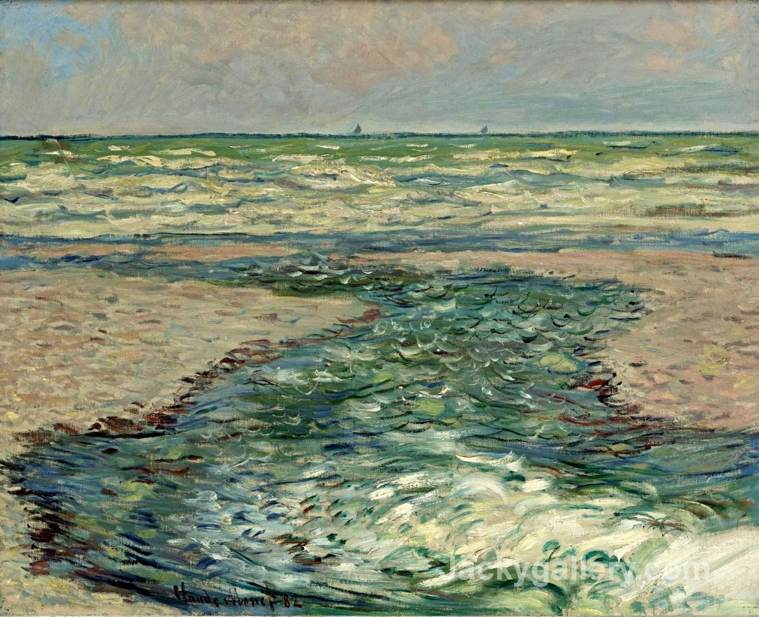 The Seacoast of Pourville, Low Tide by Claude Monet paintings reproduction