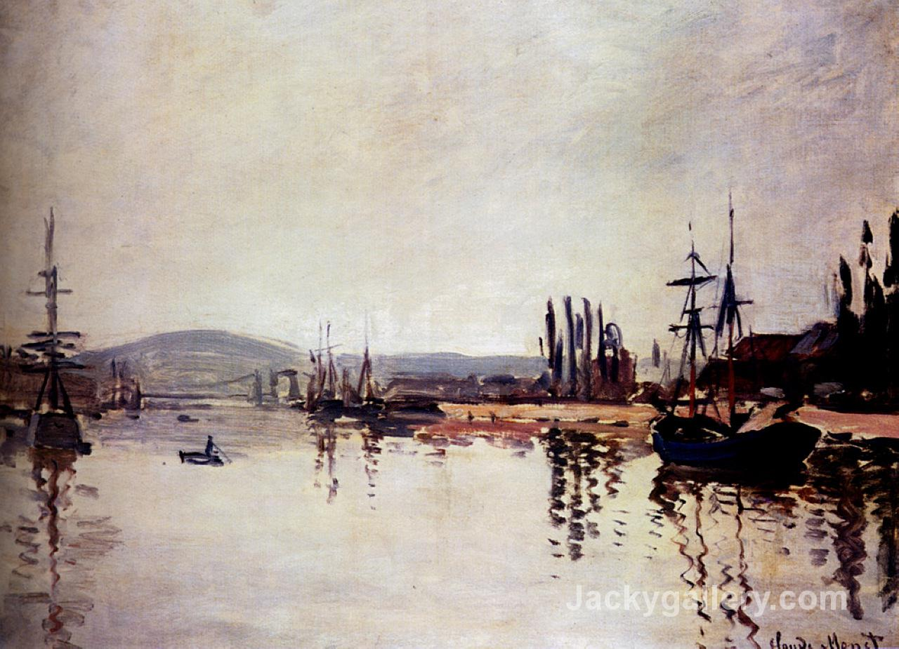 The Seine Below Rouen by Claude Monet paintings reproduction
