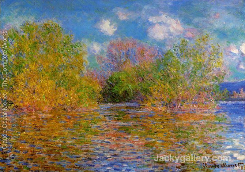 The Seine Near Giverny3 by Claude Monet paintings reproduction