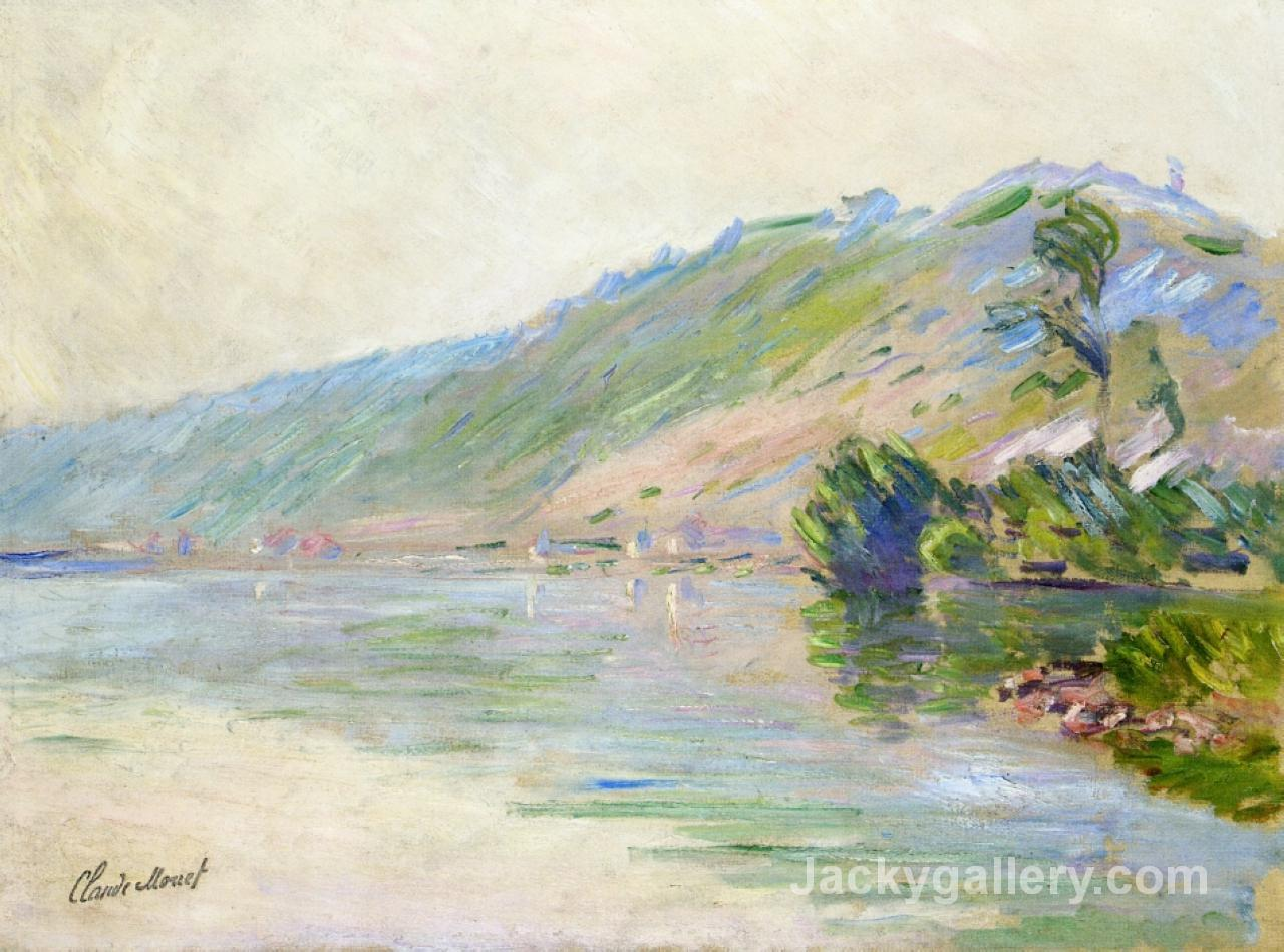 The Seine at Port-Villes, Clear Weather by Claude Monet paintings reproduction