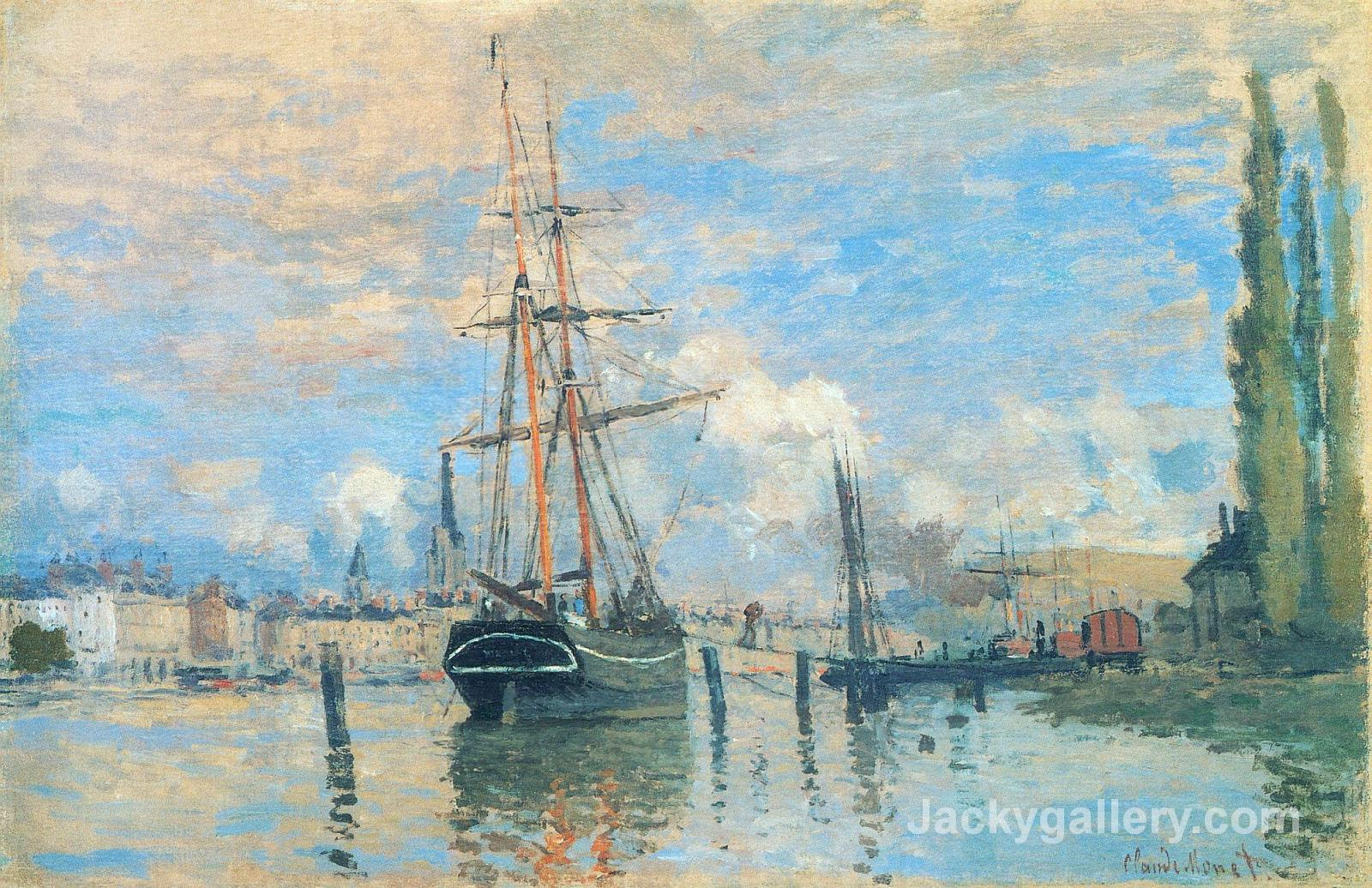 The Seine at Rouen by Claude Monet paintings reproduction