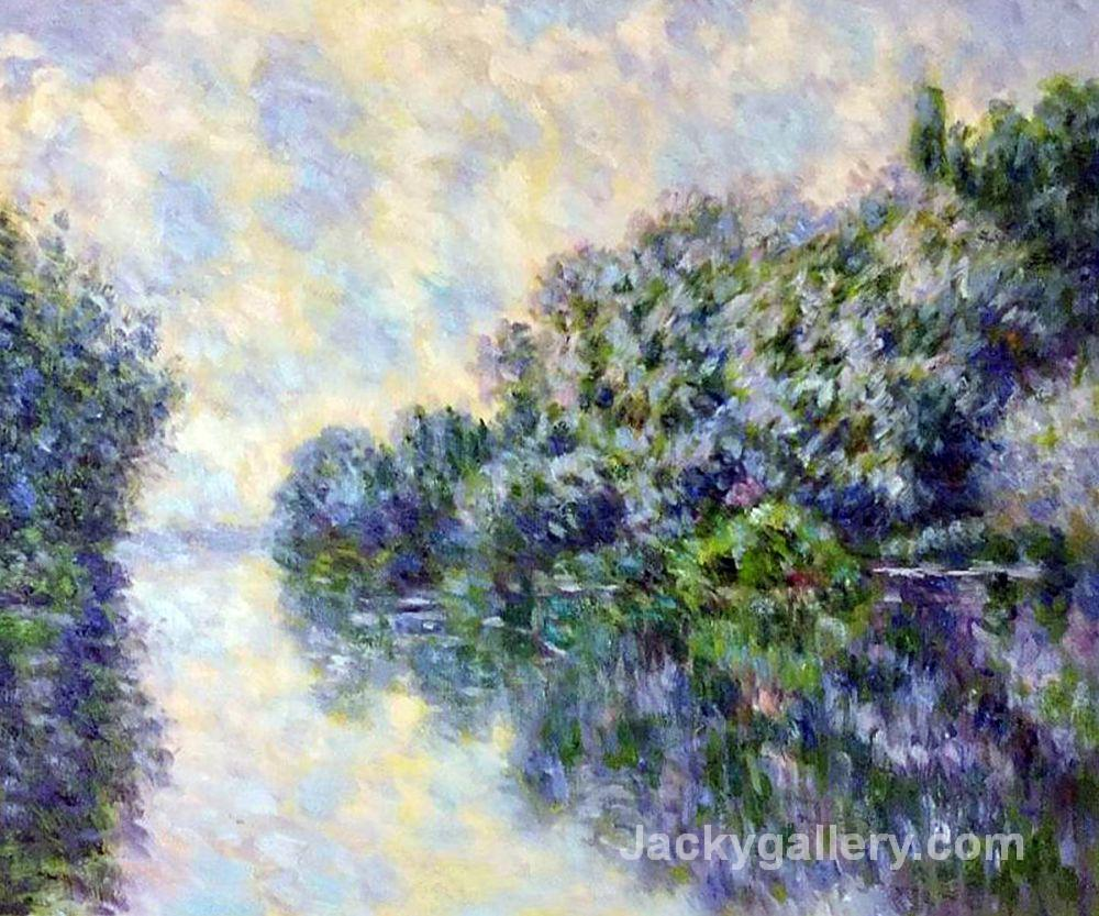 The Seine near Giverny II by Claude Monet paintings reproduction