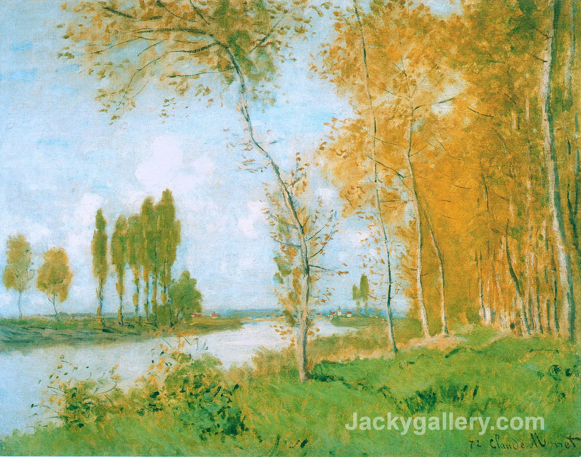 The Spring in Argentuil by Claude Monet paintings reproduction