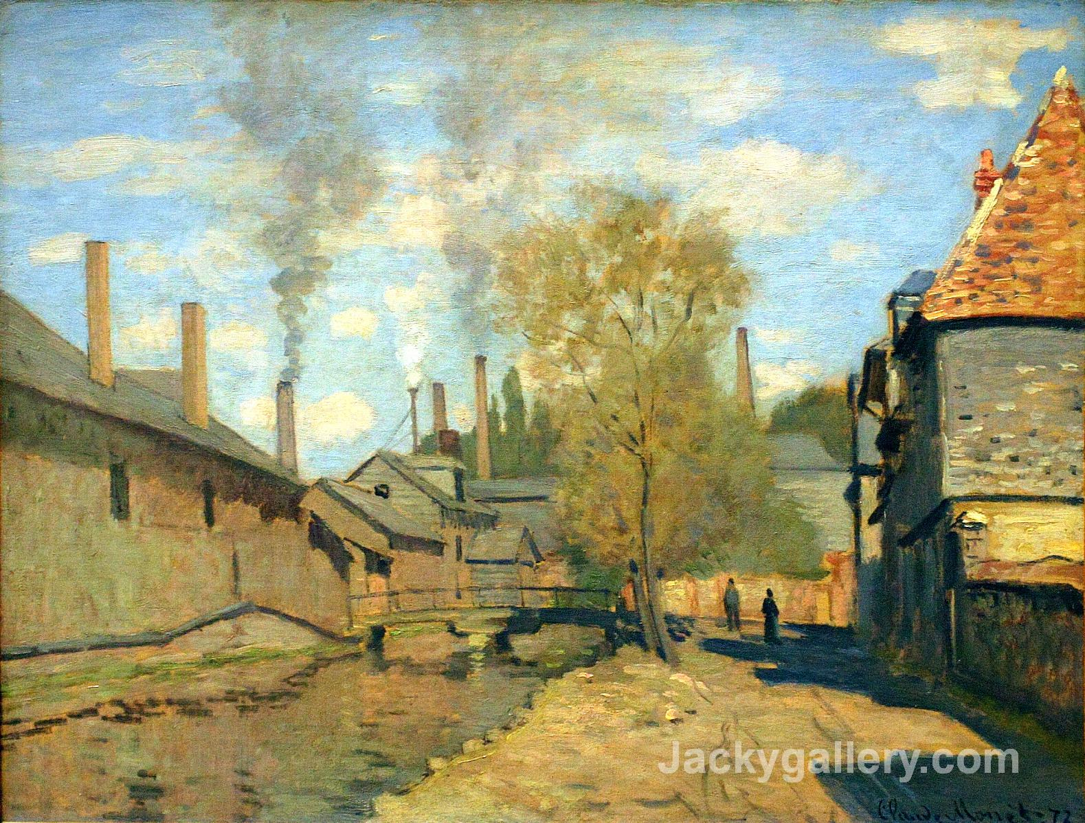 The Stream of Robec at Rouen by Claude Monet paintings reproduction