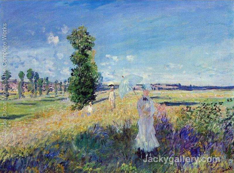 The Walk Argenteuil by Claude Monet paintings reproduction